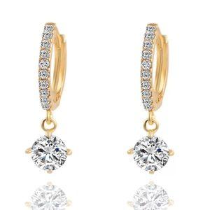 Crystal Gold/Silver Dangle Earrings